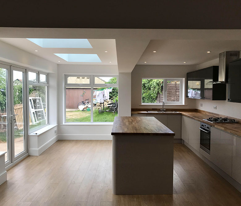 kitchen building works extensions